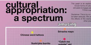 "The title of poster which reads ""Cultural Appropriation: a spectrum"""